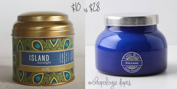 Anthropologie Volcano Candle Dupe