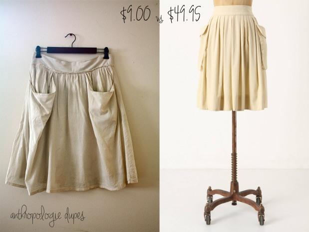 Anthropologie Skirt Dupe