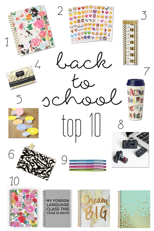 Back To School Picks - Top 10