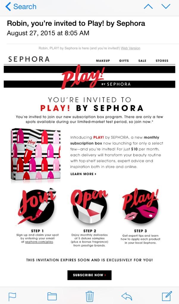 Sephora Play!